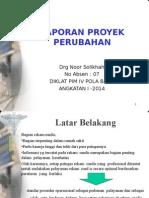laporan proyek perubahan