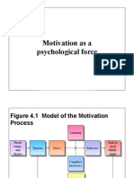 Motivation as a psychological force