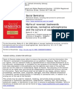 Myths of Reversal Backwards Narratives