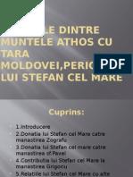 Relatiile Lui Stefan Cel Mare Cu m.athos