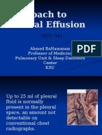 Approach to Pleural Effusion