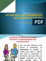 Técnicas e Instrumentos en La Investigación