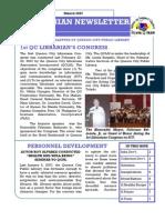 Quezonian Newsletter March 2007