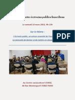 Compte-rendu de le 2 ème Rencontre des Ecrivains Publics franciliens du 14 mars 2015