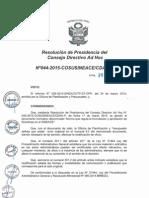 Resolución n044 2015 Cosusineace Cdah p