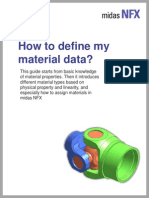 How to Define My Material Data-midas NFX
