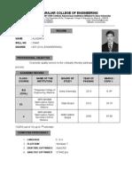 Alagar Resume