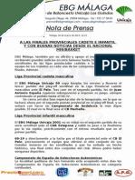 21.- A La Final Provincial Cadete y Grandes Noticias Desde El Nacional