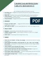 Nilai-nilai Murni Dalam Penulisan Bahasa Melayu (Bahagian c)
