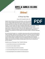 Shine! a Three Year Plan