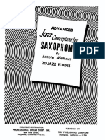 Lennie Niehaus - Advanced Jazz Conception for Saxophone (20 Etudes)