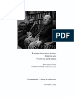 Rethinking Institutional Analysis - Interviews With Vincent and Elinor Ostrom