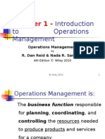 Introduction of Operation Management