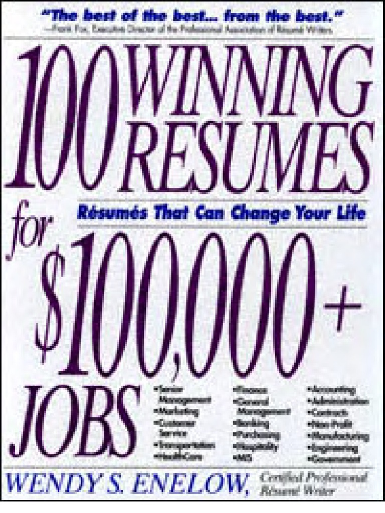 100 winning resumes for 100 000 jobs r sum accounting Real Estate Contact