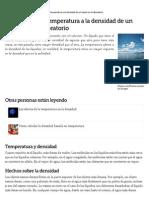 Cómo Afecta La Temperatura a La Densidad de Un Líquido en El Laboratorio _ EHow en Español