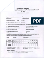 klausur Einführung in Die Allgemeine Und Anorganische Chemie 1(284)