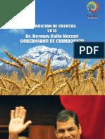 Rendición de Cuentas 2014 - Gobernación de Chimborazo