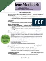 shaylene machacek resume
