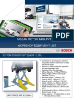 Bosch WS Equipment