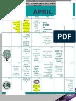 SAPR Events 2015 Calendar