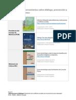 Resumen, publicaciones y herramientas