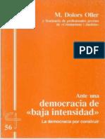 CJ 56, Ante Una Democracia de Baja Intensidad - M Dolors Oller