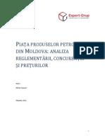 Piata Produselor Petroliere Din Moldova Analiza Reglementarii Concurentei Si Preturilor
