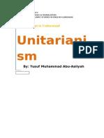Unitarianism - A Research Paper