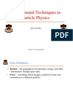 Experimental Techniques in Particle Physics