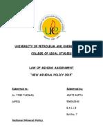 Aditi Law of mining.docx