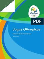 Preços Dos Ingressos Rio 2016