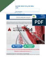 Descarga AutoCAD 2014 32 y 64 Bits Enlaces