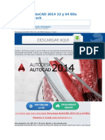 Descarga AutoCAD 2014 32 y 64 Bits Enlaces