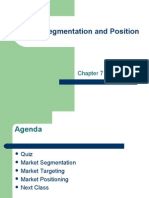 Market Segmentation and Position