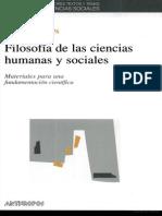 Filosofia de Las Ciencias Humanas y Sociales