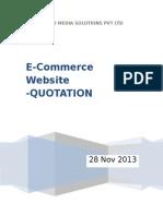 Ecommerce Website Development Quotation