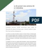 El Problema de Poner Una Antena de Telefonía en Colombia