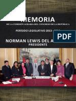 Memoria Comisión Agraria