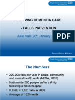 Improving dementia care  – falls prevention