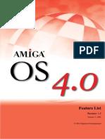 Amiga OS 4,0 Features