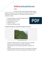 Types of Forests in India - GoSarkari.com