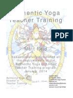 authentic yoga tt certificate reid