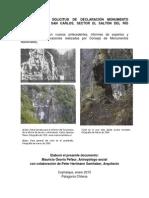 Expediente solicitud declaratoria Monumento Histórico para Paso San Carlos, río Baker, Cochrane, Región de Aysén