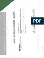 Angel Gutierrez - Certificaciones MCITP