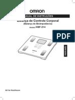 OMRON - BALANÇA DE CONTROLE CORPORAL - MANUAL DE INSTRUÇÕES - HBF-214