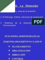 La Direccion - Tema 6 Resumen