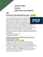 Orientações Para Implantação de Ccih