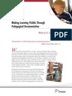 making learning visible through pedagogical documentation carol anne wien