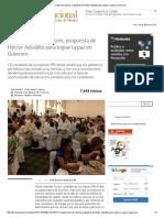 Recuperación de valores, propuesta de Héctor Astudillo para lograr la paz en Guerrero