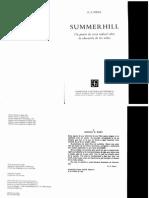 Alexander Sutherland Neill. SummerHill Un Punto de Vista Radical Sobre La Educacion de Los Ninos